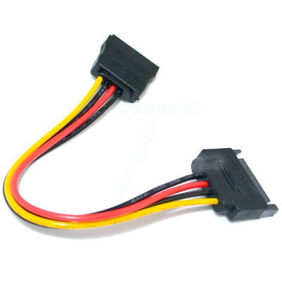 SATA 15-Pin 15 Pin Male to Female Power Extension Cable Cord Wire For