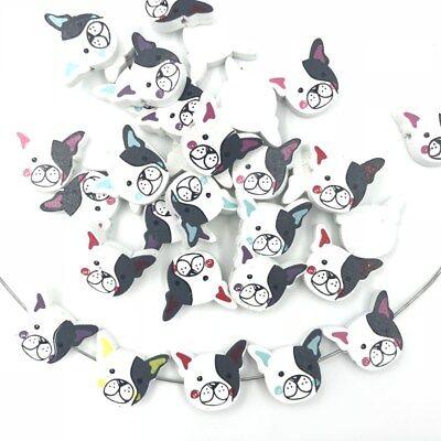 Holz Cartoon Hund Spacer Perlen DIY Kinder Spielzeug Halskette Holzperlen 21mm ()