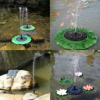 Solar Panel Powered Water Feature Plants Pump Garden Pool Pond Aquarium Fountain - unbranded - ebay.co.uk