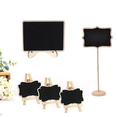 12X 24X Kreidetafeln Hölzern Klein Tafel Tischplatte Menükarten Hochzeit Zeichen