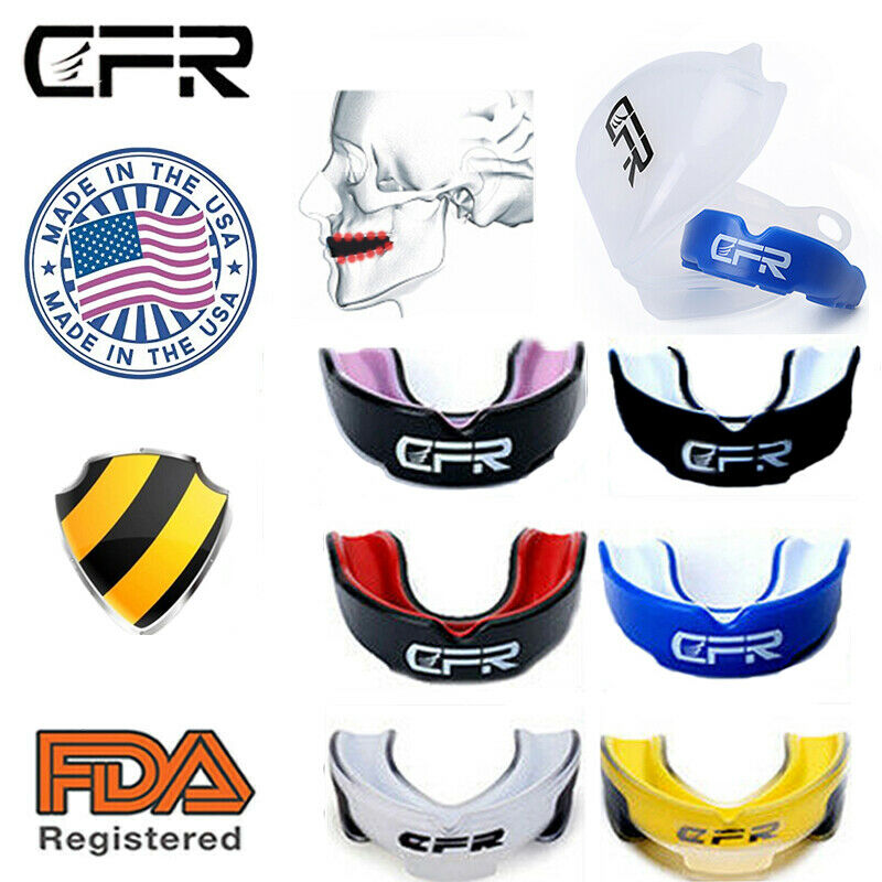 Mouth Guard Shield Case MouthPiece Boxing Basketball Gel Gum