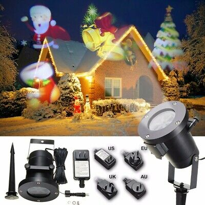 Halloween Lamp Moving Laser Projector Landscape Stage Light Waterproof  Xmas US - Halloween Light Projector
