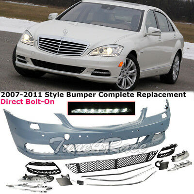Front Fascia Bumper Body Kit For 2007-2011 W221 Mercedes Benz S Class No Sport Front Fascia Kit