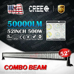 500W-CREE-52INCH-LED-WORK-LIGHT-BAR-COMBO-SPOT-amp-FLOOD-DRIVING-OFFROAD-BAR-4WD