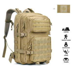 40L Large Military Tactical/Hunting  Backpack with Flag Patch