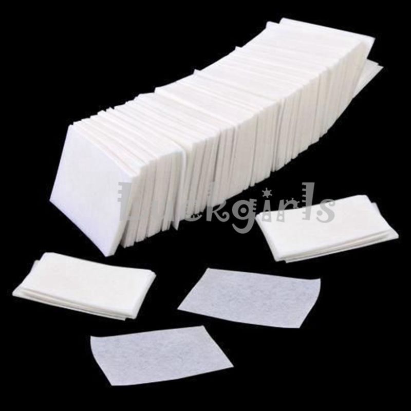 900 Nail Art UV Gel Polish Remover Lint Free Cleaner Wipe Cotton Pads Paper