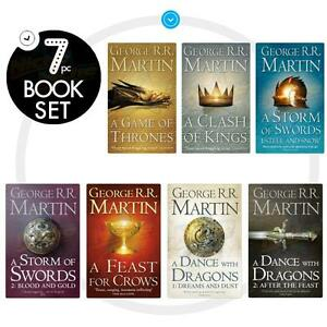 George-R-R-Martin-A-Game-of-Thrones-Song-of-Ice-and-Fire-7-Books-Set-Box-NEW