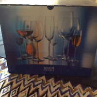6 glass wine goblets