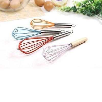 Food-grade Silicone Handle Silicone Egg Beaters Milk Cream Whisk Mixer Tool US
