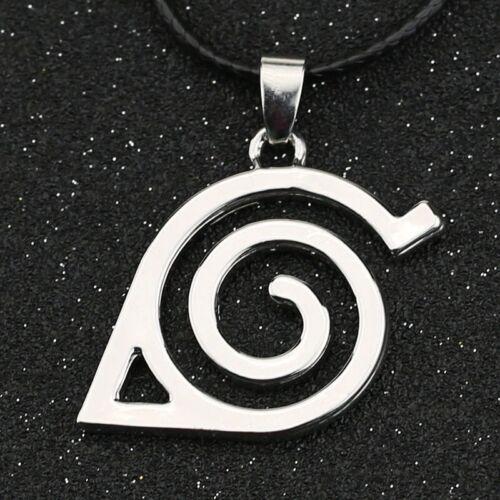 Hot Anime Naruto Konoha Itachi Symbol Silver Leaf Pendant Necklace Jewelry