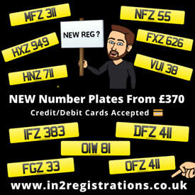 NEW Short NI Number Plates from £370 - Cherished Registration plate