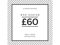 Web design, development, SEO from £60 - get online in 7 days