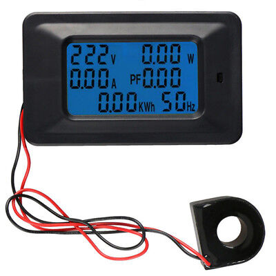 Ac 110-250v 220v 100a Digital Lcd Meter Monitor Power Energy Ammeter Voltmeter