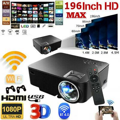 1080P HD WiFi Portable 3D LED Mini Video Projector Home Cinema 4K Wireless 2020