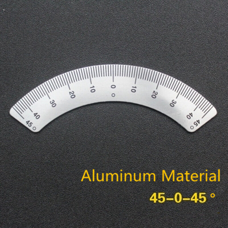 45-0-45 Scale Ruler Sticker Aluminum Arc Scale Angle Ruler Milling Machine Part