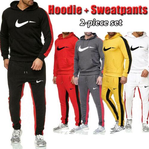 Jogginganzug Herren FitnessSport Lässiger Pullover Sweatshirt Hoodie&Hose Unisex