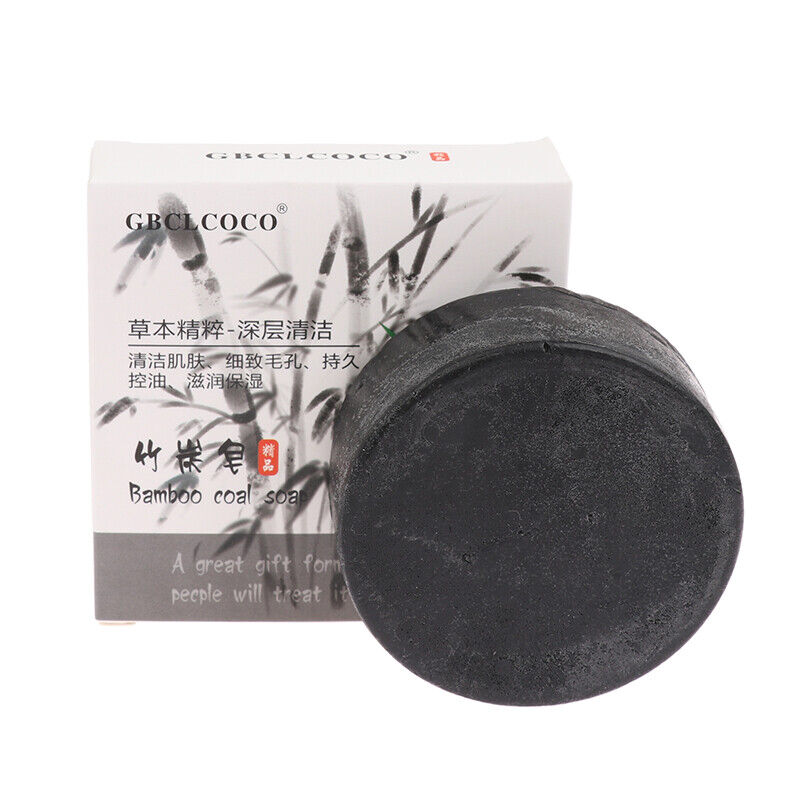 Women Private Whitening 100g Bamboo Charcoal Soap Skin Cleansing Oil-control+