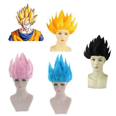 Dragon Ball Wigs Goku Super Saiyan Short Hair Style Cosplay Costume Kid Adult (Super Saiyan Wig)