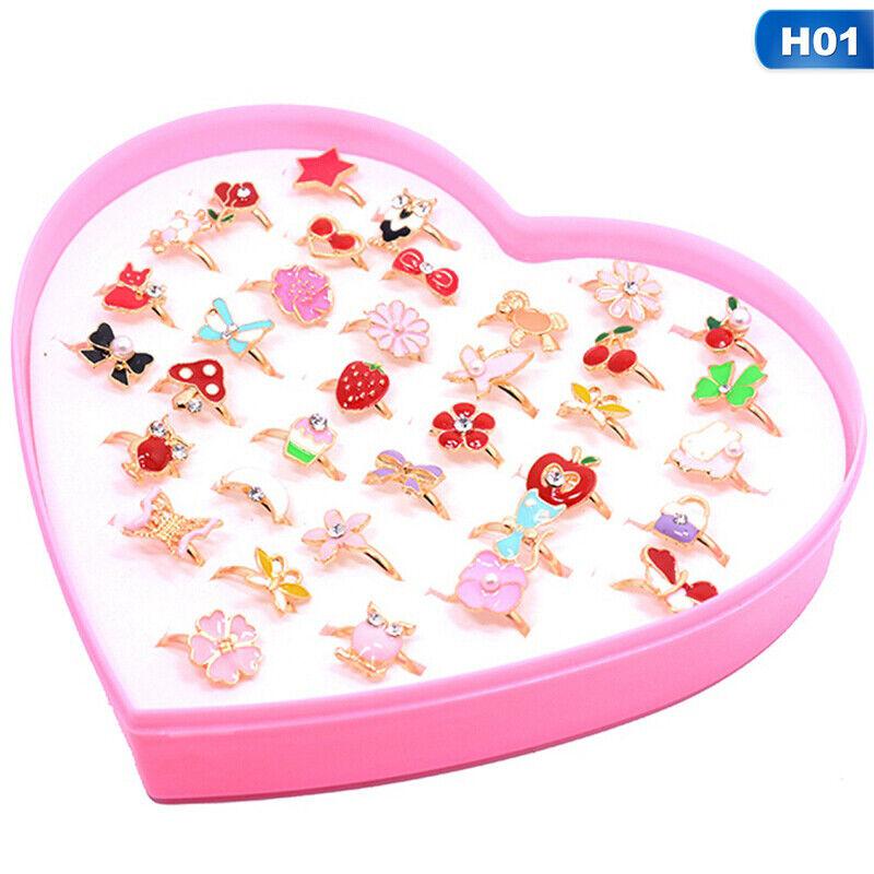 cute kids cartoon rings little girls jewelry