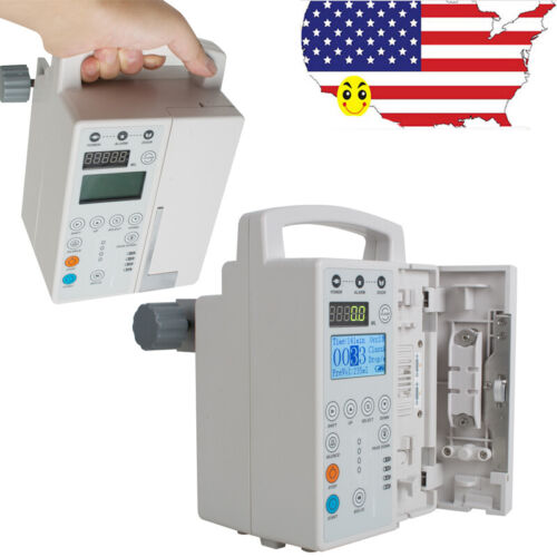 CE Medical Infusion Pump IV Fluid Infusion + Audible Alarm Human&Veterinary