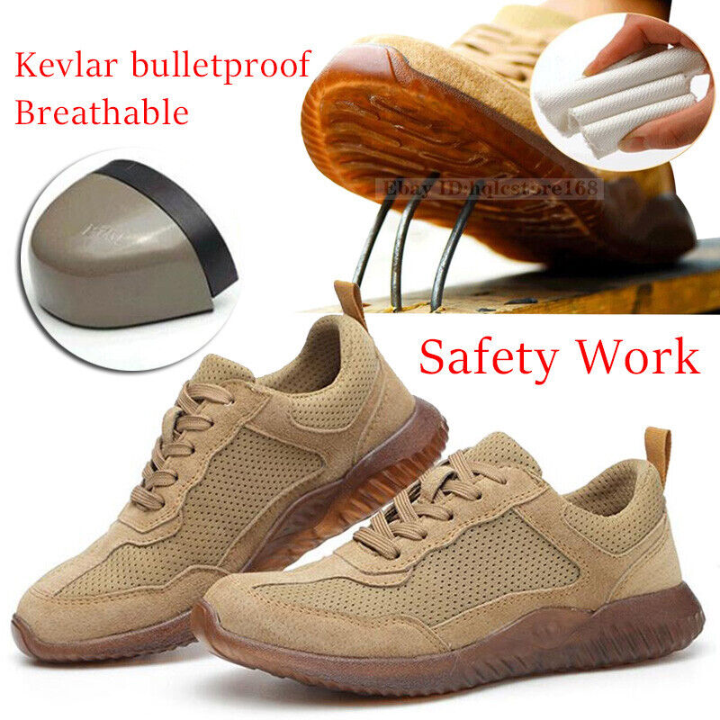 Men/'s Safety Lightweight Work Shoes Steel Toe Boots Indestructible Mesh Sneakers