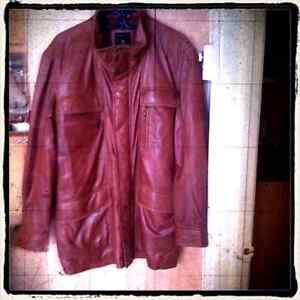 Manteau d'hiver en cuir de première qualité
