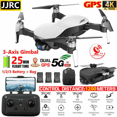 JJRC X12 GPS Drone With 5G Wifi FPV 4K Camera Brushless 3-Axis Gimbal Drone N9B1