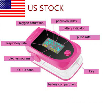 Oled Finger Pulse Oximeter Blood Oxygen Saturation Spo2 Heart Rate Monitor Fda