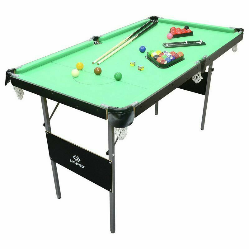Indoor Game Easy Foldable Portable 4 Ft 6 Inch Pool Snooker Table Set Fun Play