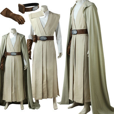 New Film Star Wars 8:The Last Jedi Luke skywalker Cosplay Costume Carnival Suit