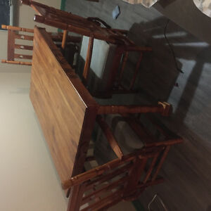 Black cherry table set home made by professional