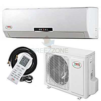 3 TON 36,000 BTU DC Inverter A/C Heat Pump Ductless Mini Split Wall Mount,25'kit