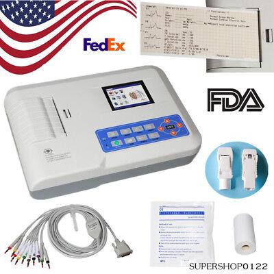 Usa Fda Electrocardiograph 3 Channel 12 Lead Ecg Machineusb Pc Software Printer
