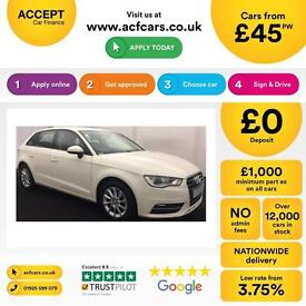 Audi A3 FROM £45 PER WEEK!
