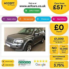 LAND ROVER FREELANDER 2 2.2 SD4 HSE XS GS SE TECH SPORT 2eD4 FROM £57 PER WEEK.