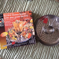Beer can/canned beverage chicken roaster for bbq