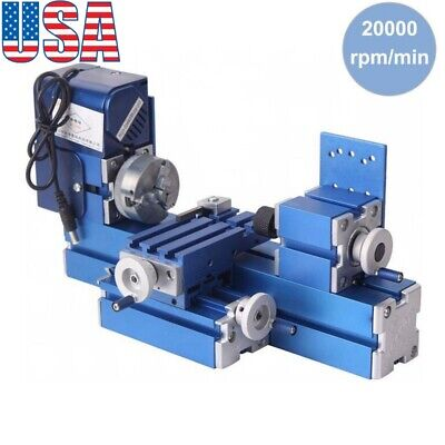 Metal Mini Turning Lathe Machine Motorized Metalworking Diy Wood Tool Hobby Usa