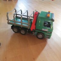 Bruder Man Timber Truck with Loading Crane
