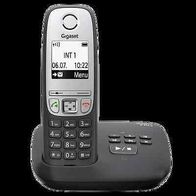 Gigaset A415A schwarz Schnurlostelefon mit Anrufbeantworter NEU