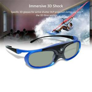 Active Shutter 3D Glasses Aurora DLP Link Projector Rechargeable LCD 3D Glasses