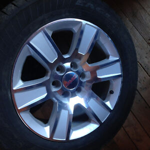 20 new 2015Gmc rims and tires 20 inch