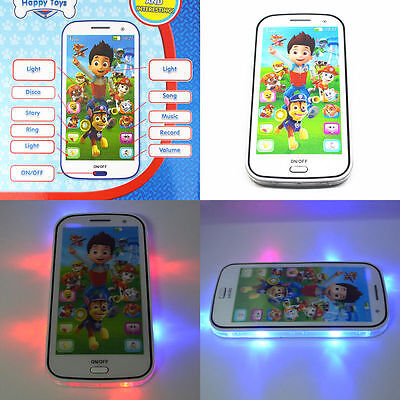 Kids Children Boy Girl PAW PATROL Figures Educational Learning Mobile Phone Toy