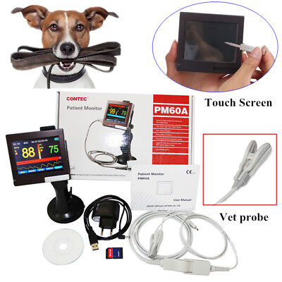 Veterinary Pulse Oximeter Touch Screen Pm60a-vet Spo2 Prsoftwarevet Spo2 Probe