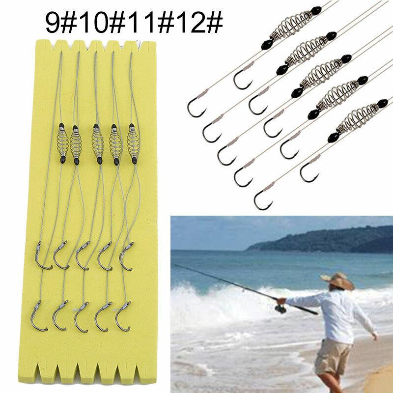5PCS/Pack Wire Method Carp Fishing Feeder Swim Feeders Spring Lead Sinkers