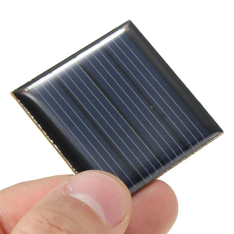 Neu Solarpanel Solarzelle 2V 70mA Solarmodul für Leuchten 1 Akku 40x40x3mm 1,2V