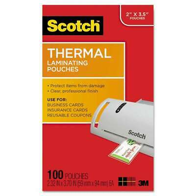 Scotch Business Card Size Thermal Laminating Pouches 5 Mil 3 3 051141366623
