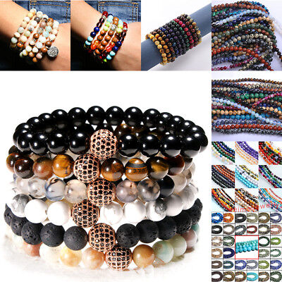 For Beaded Bracelets Necklaces Making Wholesale Natural Stone Round Loose Beads - Wholesale Beaded Necklaces