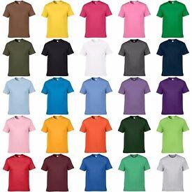 Crew Neck Solid Multi Colour T-shirt