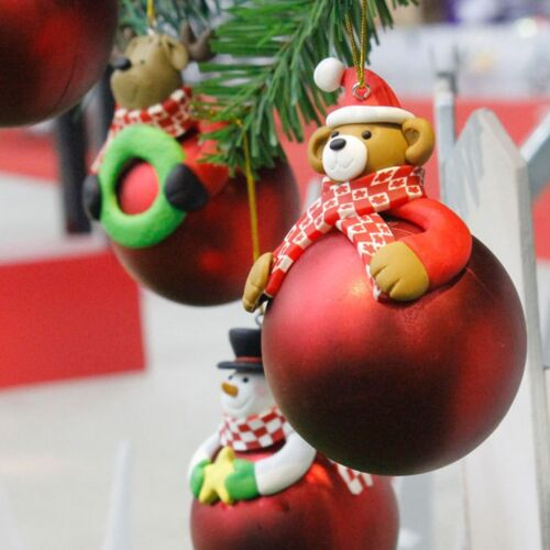 Christmas Tree Hanging Bear Santa Claus Snowman Ball Decor Xmas Home Ornament