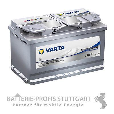 Varta Caravan / Marine Batterie AGM 12V 80Ah 800A LA80 ersetzt 85Ah 580901 Marine-starterbatterie